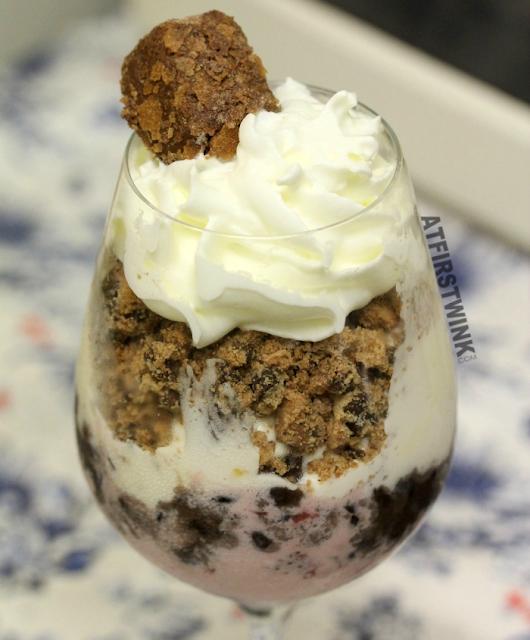 Recipe: red bean ice cream sundae
