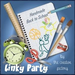 Linky Party - Handmade Back to School - by The Creative Factory