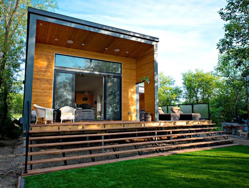 Dom modu owy czyli jak zbudowa dom w miesi c codziennie for Narrow lot modern modular homes