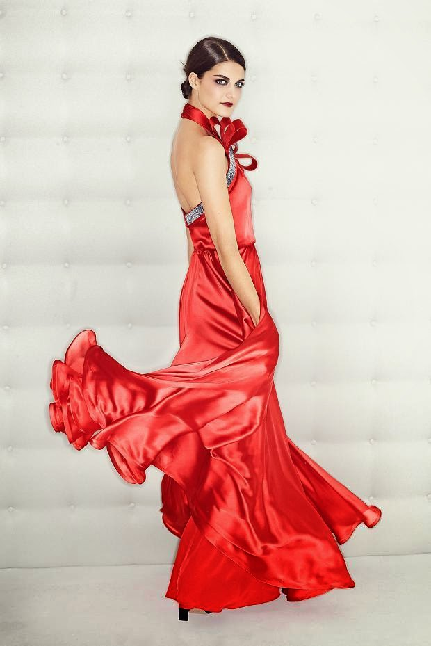Red Silk Dress Gown
