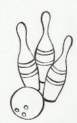 Desenho de jogo de boliche para colorir