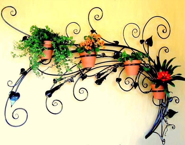 Подвески для цветов из металла своими руками 57