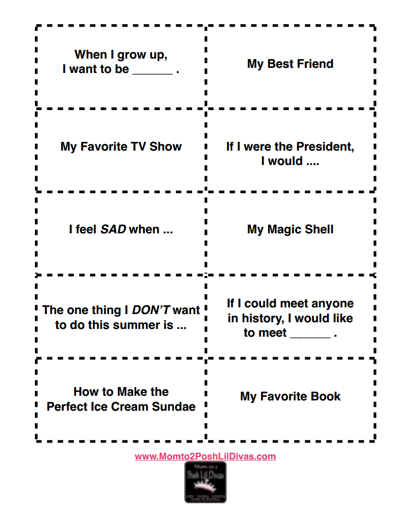 mom to posh lil divas fun summer writing prompts for kids 20 fun summer writing prompts for kids