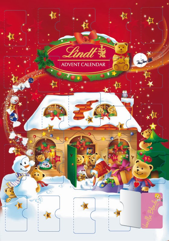 Christmas Calendar Chocolate : Vanilla blonde lindt christmas advent calendar
