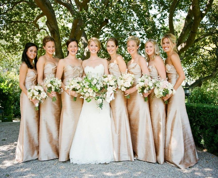 About Gold Bridesmaid Dresses