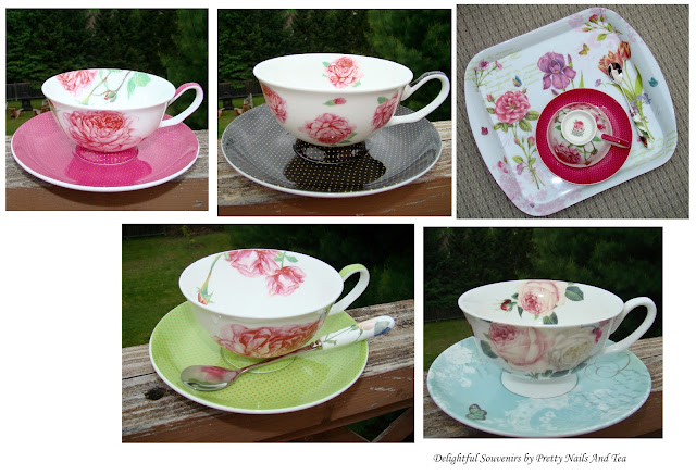 Stechcol Bonce China Tea Cups and Saucer Set