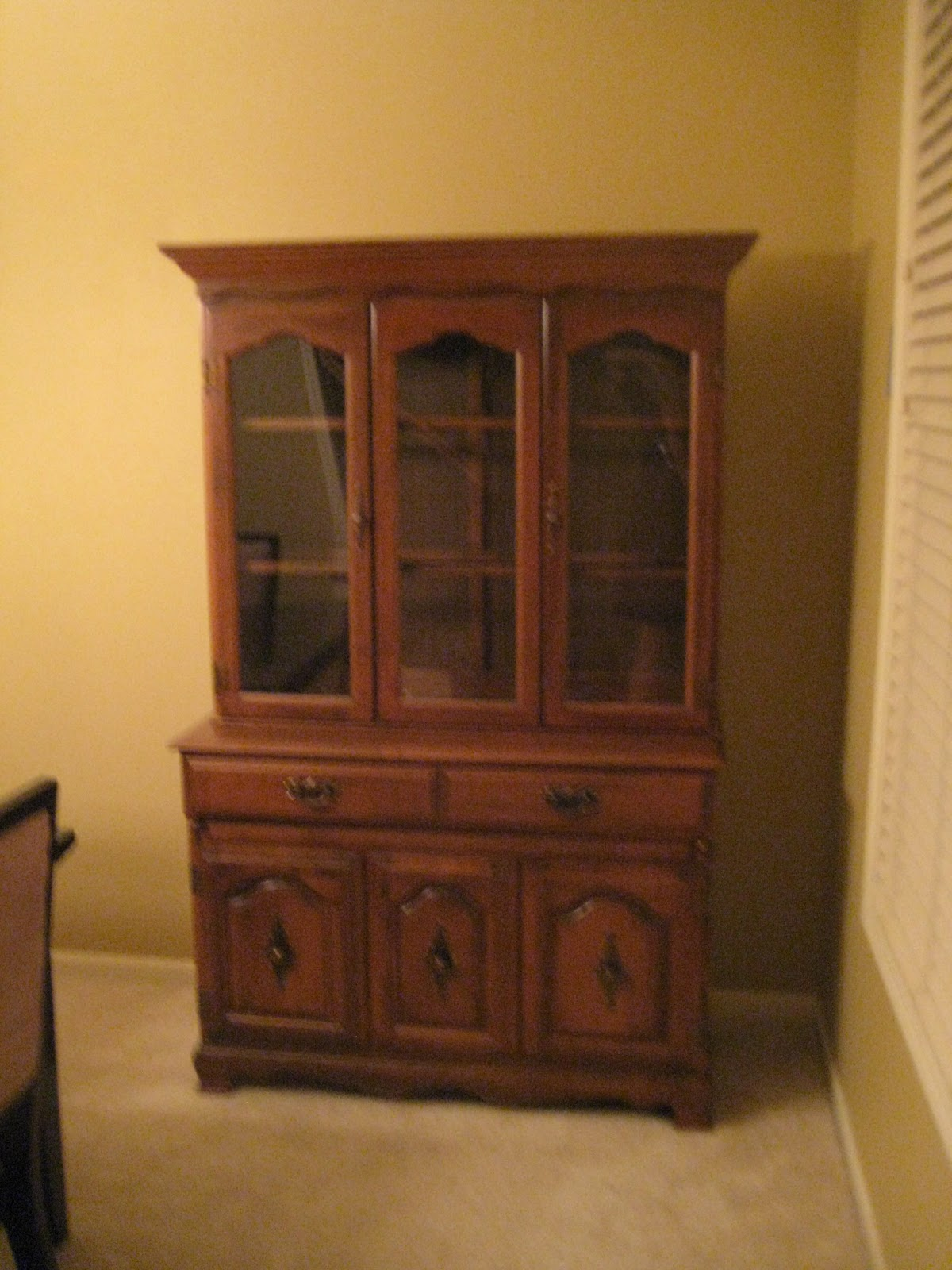 painted dreams of life, family & home: china cabinet complete!