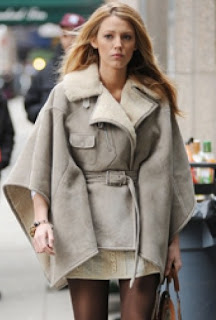 Blake Lively Sherpa Cape