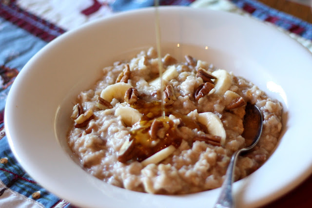 Maple Banana Nut Oatmeal recipe by Barefeet In The Kitchen