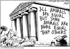 All animals are equal but some animals are more equal than others, animal farm, George Orwell