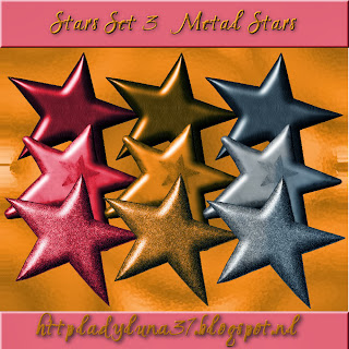 Freebie: Stars Set Three - Metal Stars