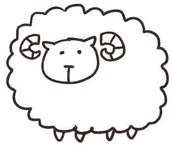 羊のイラスト(未年・干支)線画