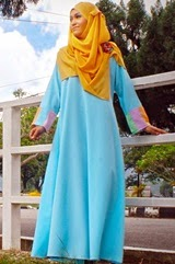 HUSNA Pastel Jubah Dress