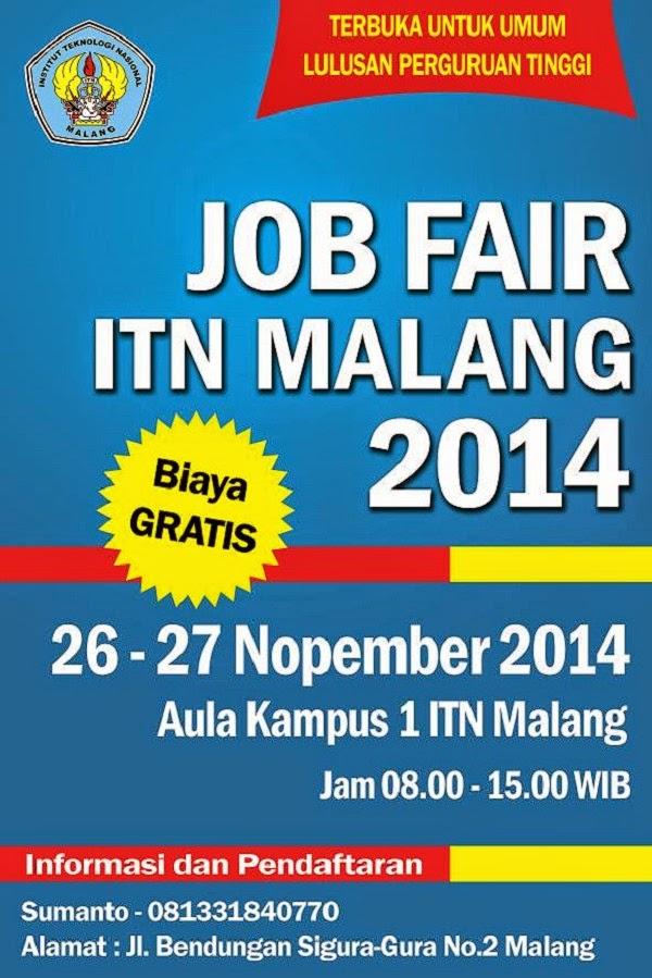 Peluang Kerja di Job Fair ITN MALANG Akhir Tahun 2014