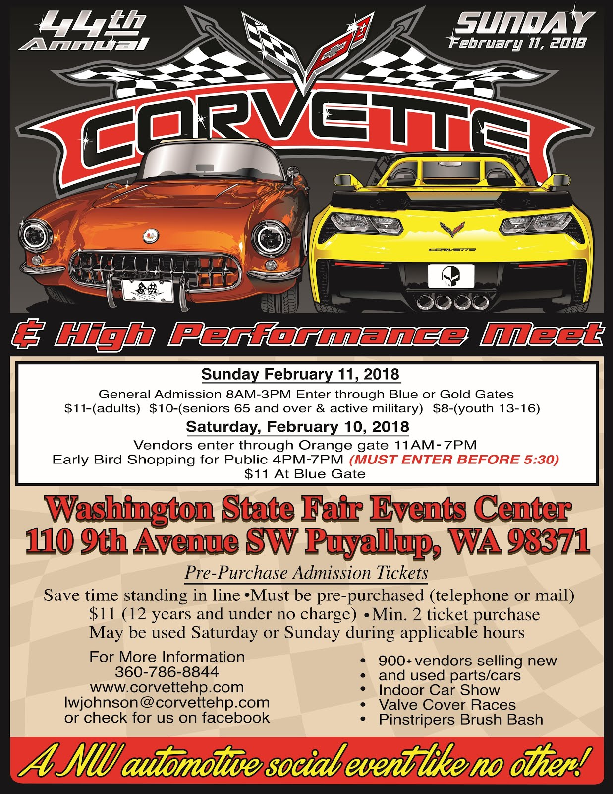 Corvette & High Performance 44th Annual Show Pre-Purchase Your Tickets Today!!
