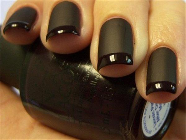 Black and white nail art designs violet fashion art acrylic black nail art designs prinsesfo Images