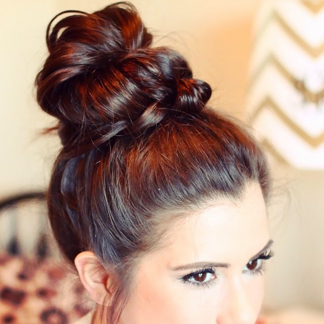 fishtail topknot, fun braids, topknots with braids, buns with braids, emily gemma hair, the sweetest thing hair