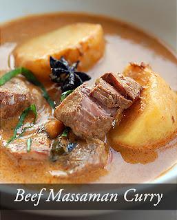 แกงมัสมั่นเนื้อ (Beef Massaman Curry)