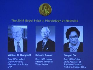 2015 Nobel Winners in Physiology/Medicine