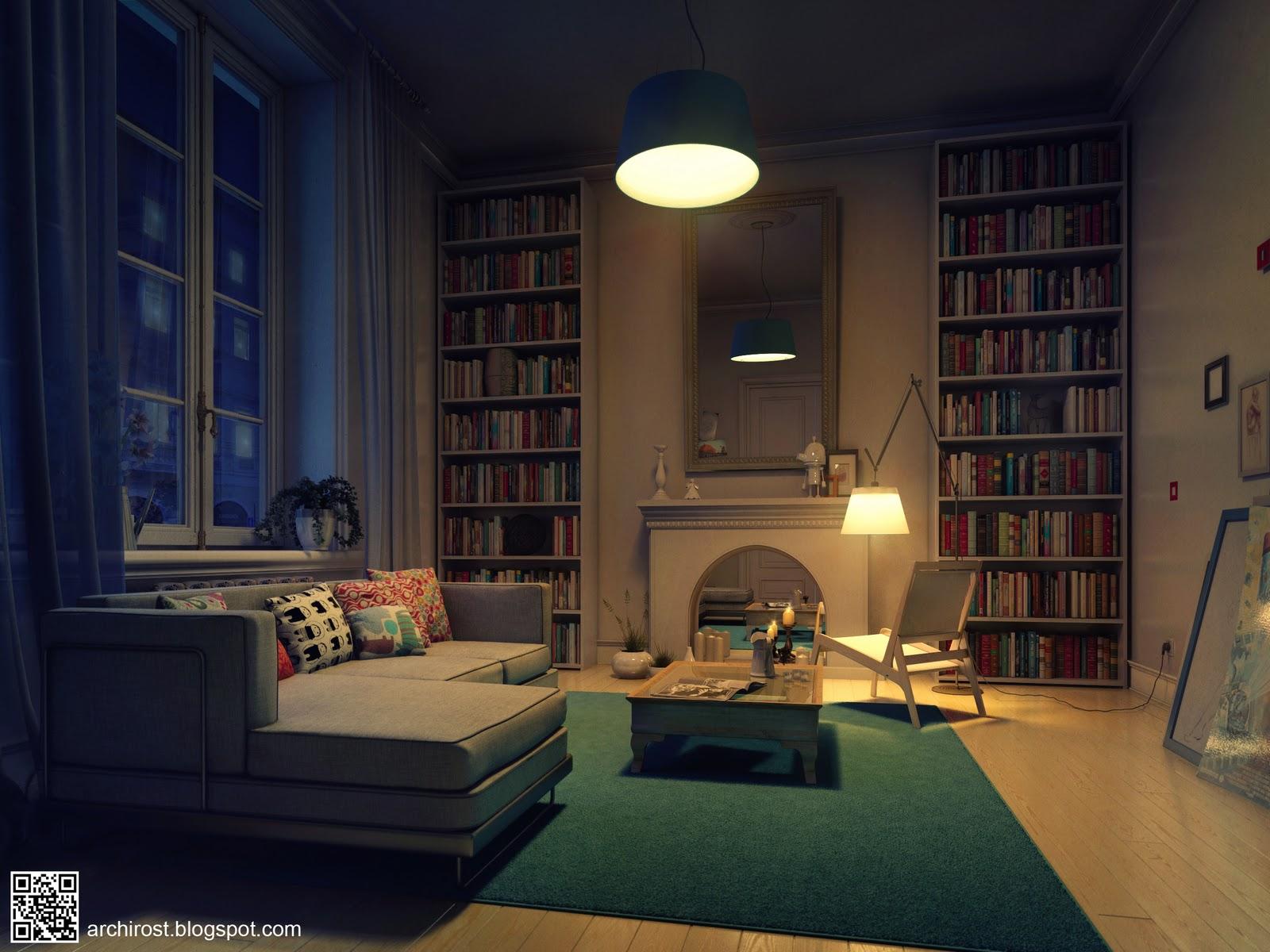 Vray освещение интерьер