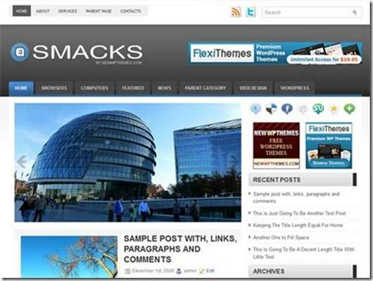 Download Smacks WordPress theme