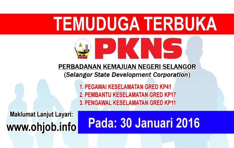 Jawatan Kerja Kosong Perbadanan Kemajuan Negeri Selangor (PKNS) logo www.ohjob.info januari 2016