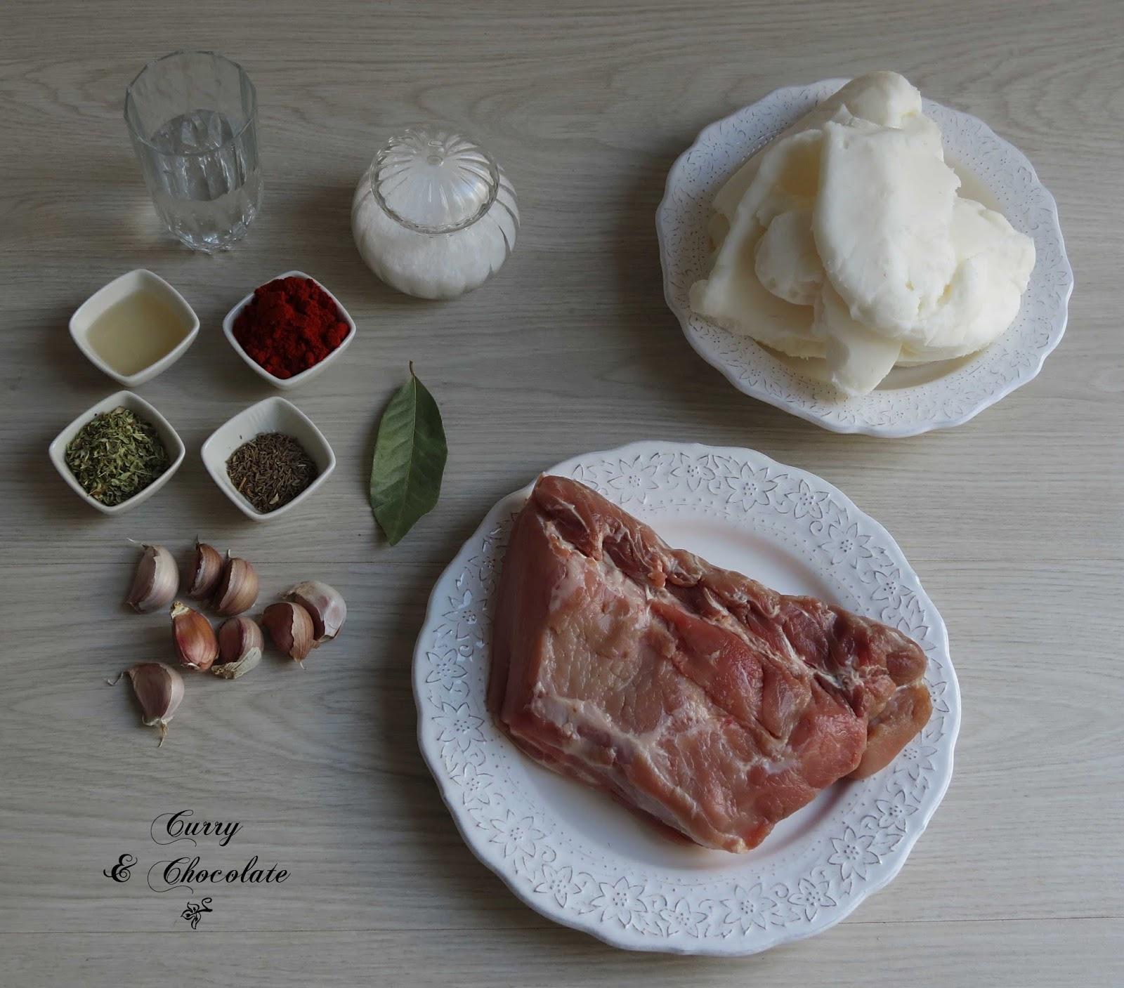 Manteca colorá con lomo de cerdo