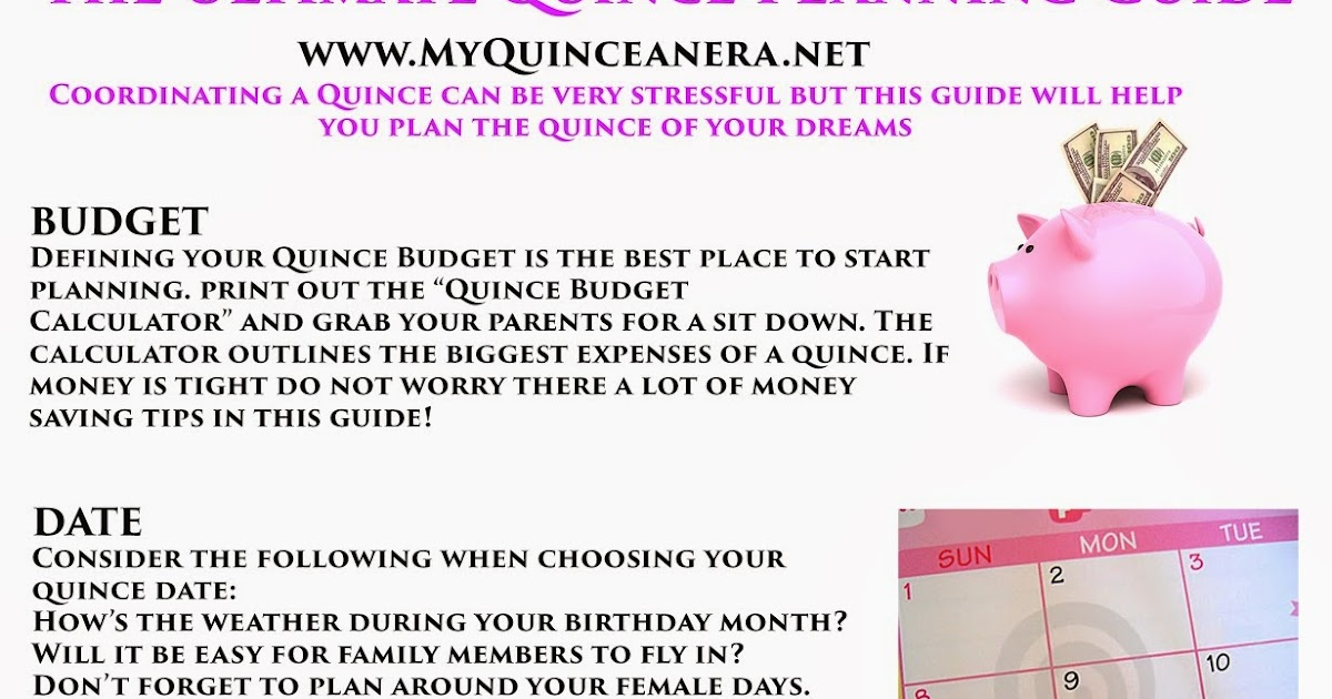 photograph relating to Printable Quinceanera Checklist identify My Quinceañgeneration: Creating Marketing consultant
