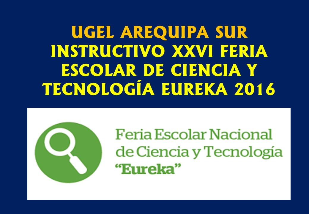INSTRUCTIVO DE FERIA DE CIENCIAS 2016