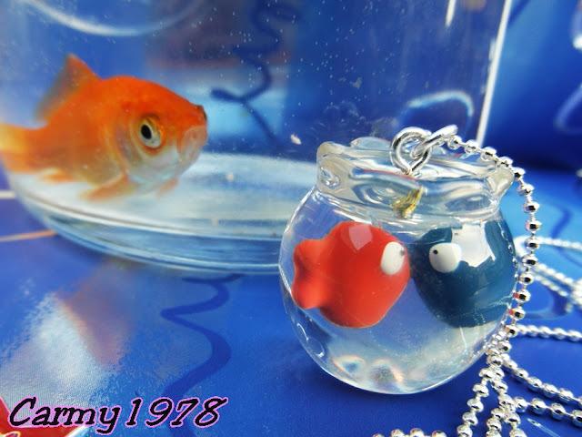 Be-Chic-Navy-Chic-collana-Lovely-aquarium-e-pesciolino-rosso