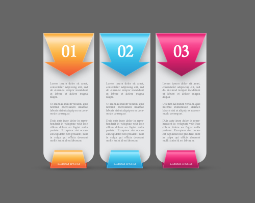 Free PSD Colorful Web Banners Number Options