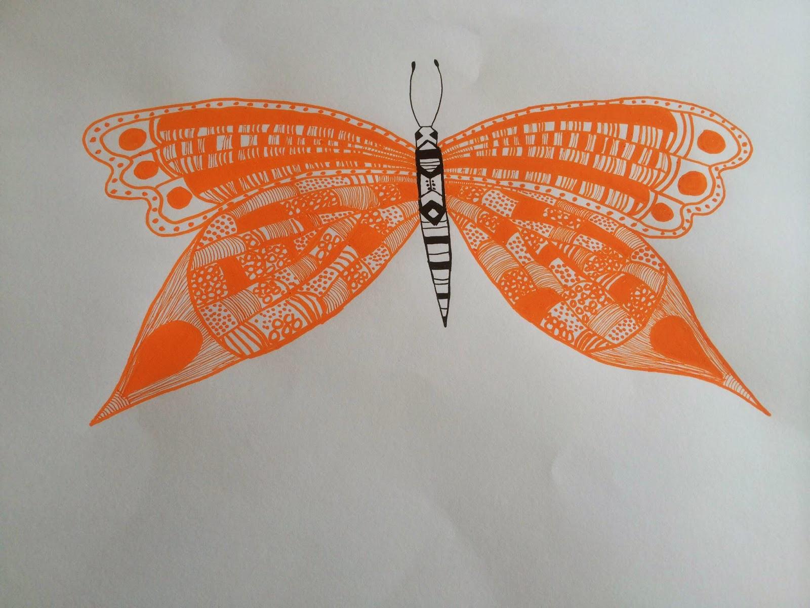 Tegnet sommerfugl