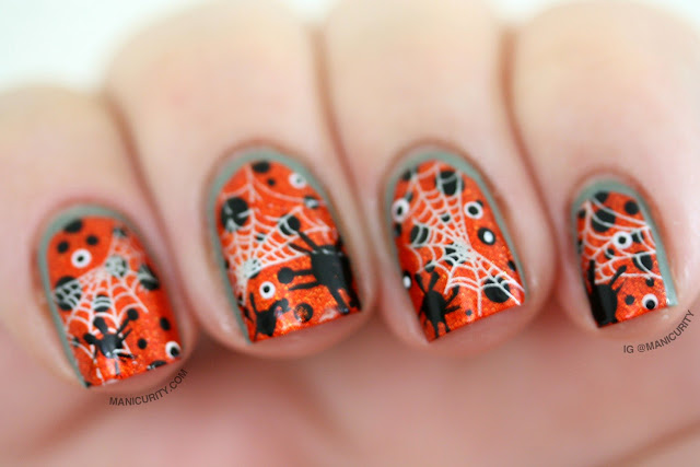 Manicurity | Busy Spider-y Halloween Ruffian Nail Art