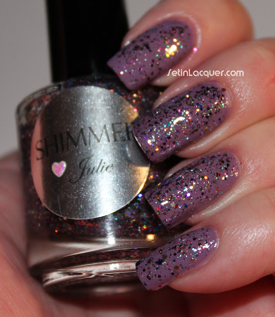 Shimmer Polish Julie over Butter London Scoundrel