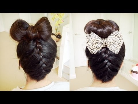 L knafo do it yourself diy hairstyles upside down french braid diy hairstyles upside down french braid hair bow sock bun updo solutioingenieria Gallery