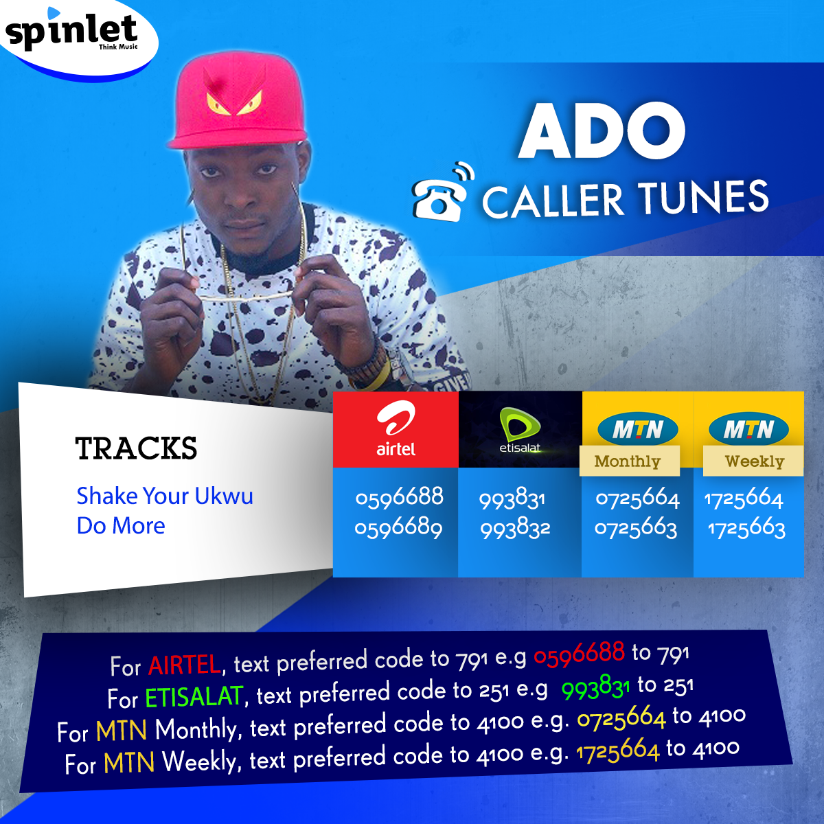 Get the tunes from Spinlet By @IamAdoOfficial