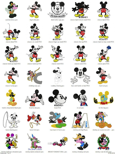 Mickey Mouse Embroidery Designs Free