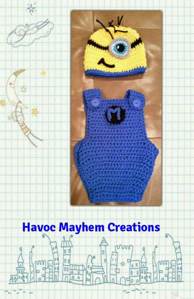 Free Crochet Pattern Minion Overalls : Havoc Mayhem Creations