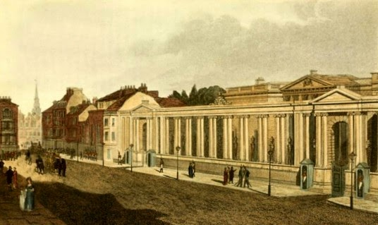 Carlton House, with its main entrance facing Pall Mall  from Ackermann's Repository (1809)