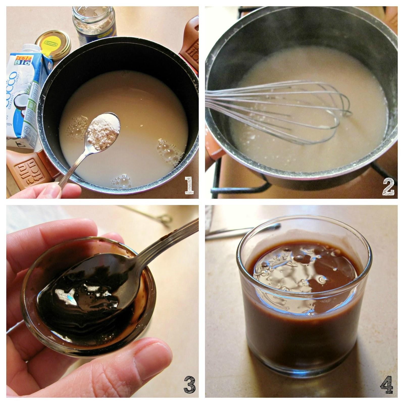 dessert al latte di cocco e golamera senza zucchero