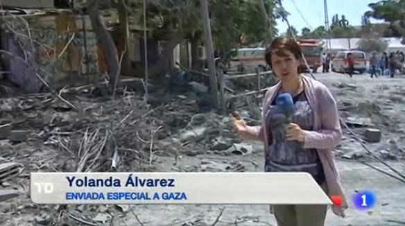 La enviada especial de TVE en Gaza, acusada de portavoz de Hamás por la embajada israelí