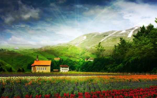 Beautiful Scenery Landscape Background Images HD Free