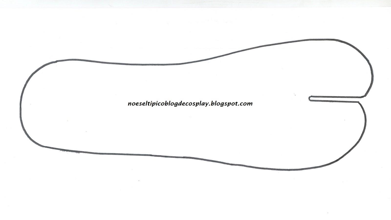 No es el típico blog de cosplay: Tutorial calcetín/calcetines tabi.