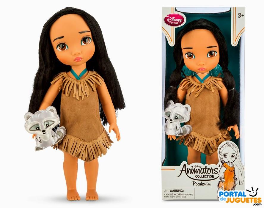 muñeca pocahontas coleccion disney animators tercera edicion