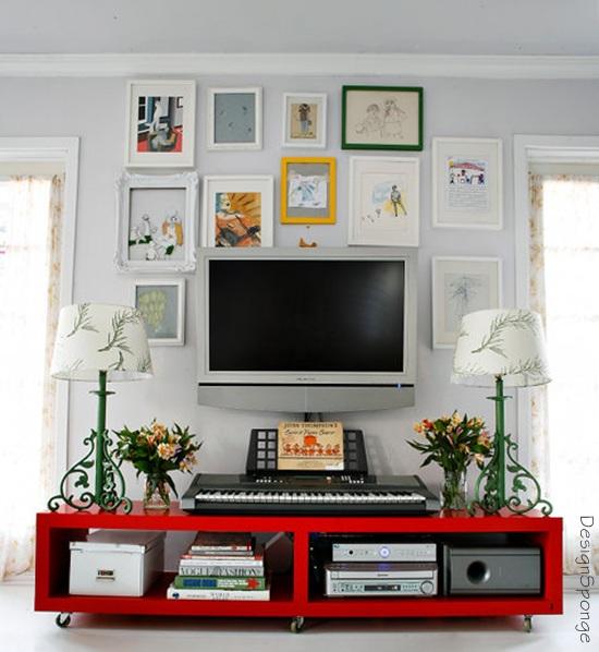 TV na decoração