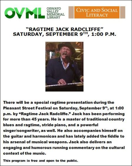 9-9 Jack Ragtime Playing At Fall Festival