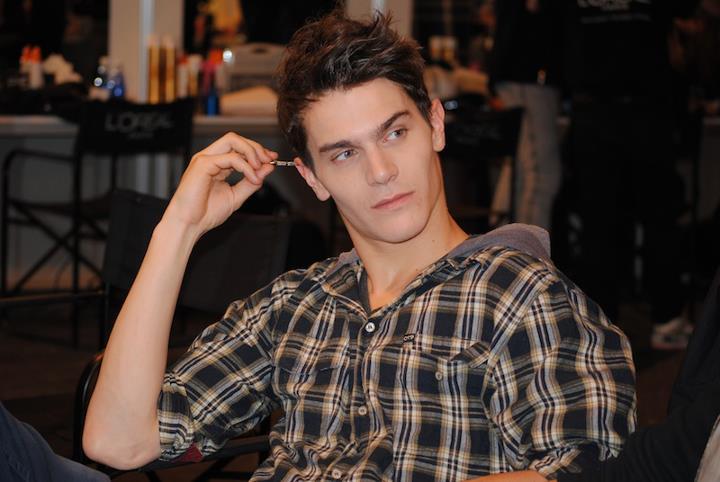 modelo masculino en madrid fashion show
