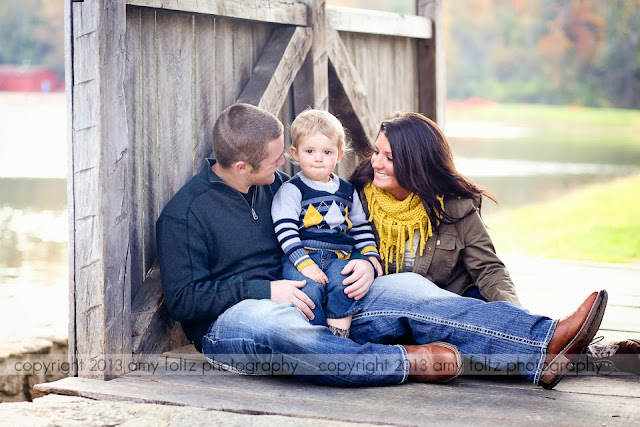 photo of family at Fowler Park in Terre Haute