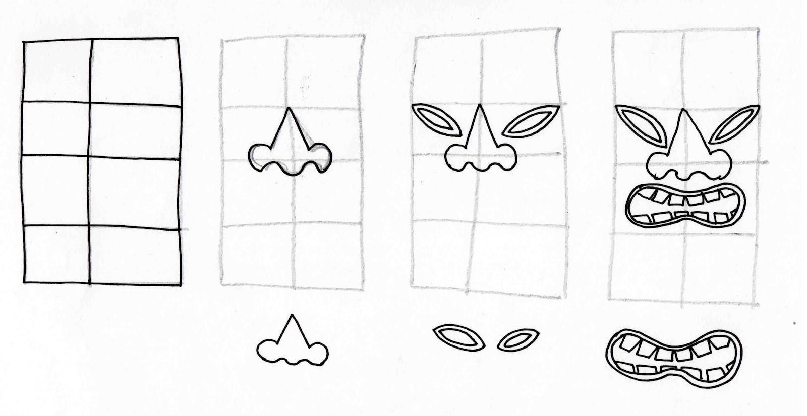 Wooden Tiki Head Drawing Stitchlily: How to dra...
