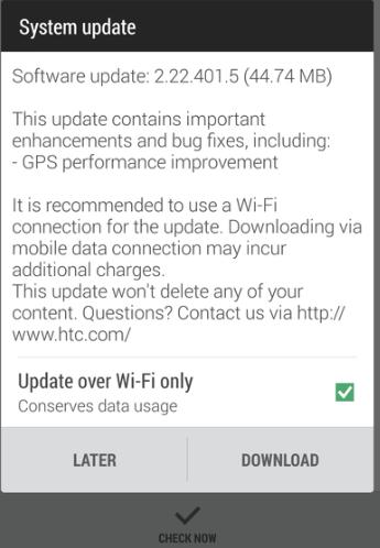 HTC One M8 İçin Yeni Güncelleme